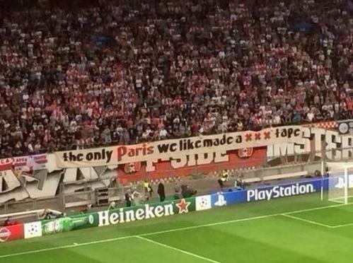 Pancarta Amsterdam Arena